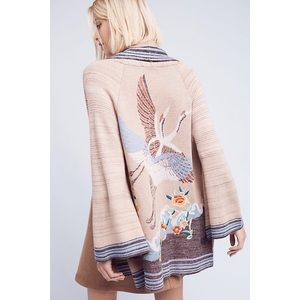 Anthropologie Crane Sweater Cardigan HWR size L
